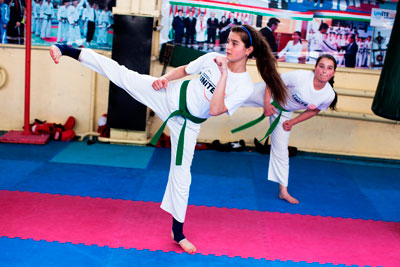 Martial artists fight gender discrimination and violence in Tajikistan