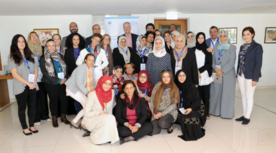 45 Yemeni women leaders met the UN Special Envoy for Yemen, Ismail Ould Cheikh Ahmed, at a UN-organized meeting in Larnaca, Cyprus on 11 October 2015. Photo: UN Women