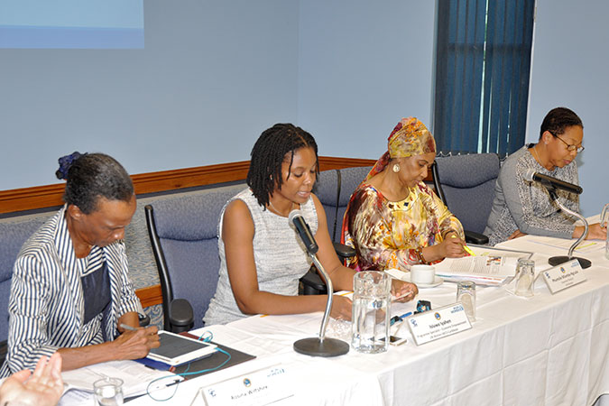 UN Women Executive Director at a roundtable discussion on data and gender equality in Barbados. Caption: Photo: UN Women/Ricardo Leacock