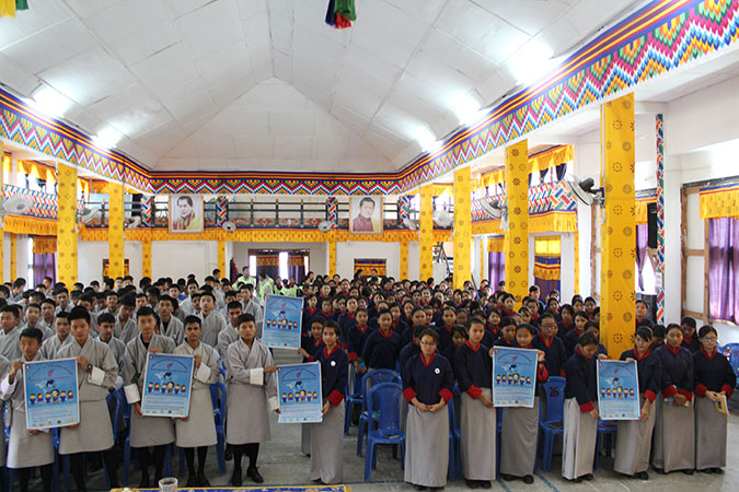 Students call for action to Step It Up for Gender Equality during International Womens Day 2016 celebrations in Phuentsholing district,  Bhutan Photo: UN Women/Rinzi Pem