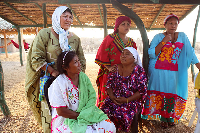 Debora Barros Fince (top left) is a Wayúu indigenous activist, human rights defender and lawyer from the community of Bahía Portete, La Guajira, Colombia. Photo: UN Women/Nathan Beriro.