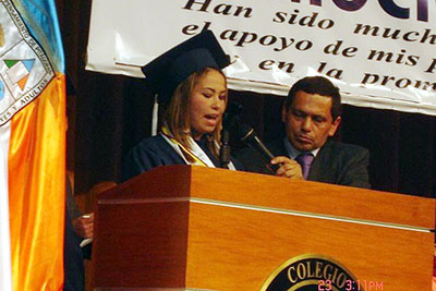 María graduated in 2011, among the top of her class. Photo courtesy of María Alejandra Martínez