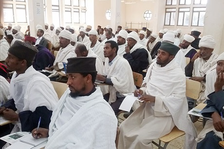 Religious leaders attending training in Mertolemariam town in February 2016. Photo: EOC