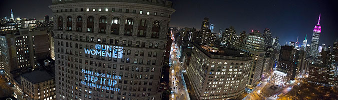The Flatiron building and the Empire State Building in New York. Photo: UN Women/Ryan Brown