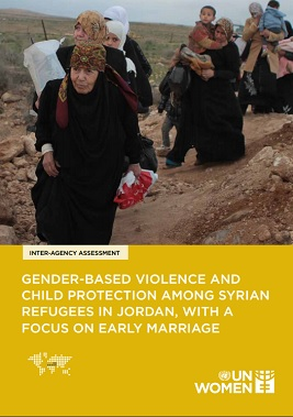 GBV and child protection among Syrian refugees in Jordan, with a focus on early marriage.