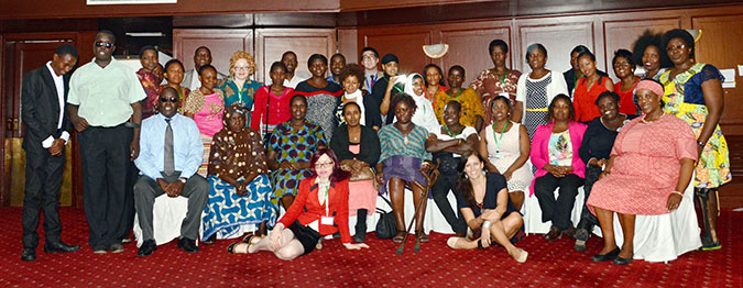 "Participants at the ""Enhancing the Network's Humanitarian Advocacy at Regional and Global Events"" workshop in Nairobi, Kenya. Photo: UN Women/Rose Ogala"