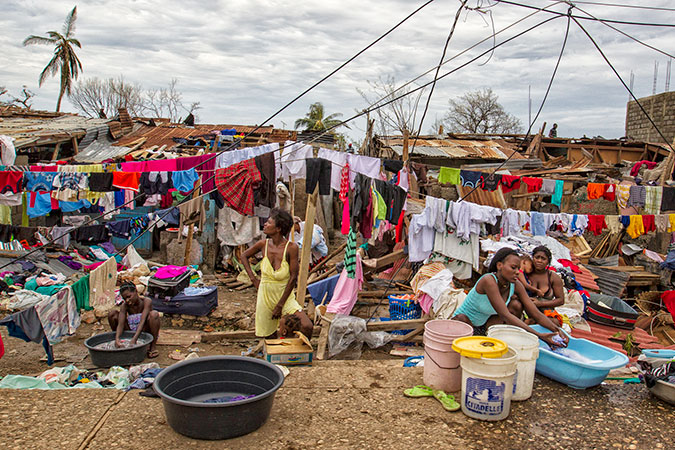Women washing clothes following Hurricane Matthew in Haiti. Photo: UN/MINUSTAH/Logan Abassi
