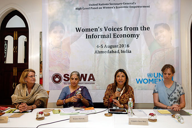 UN High-Level Panel on Women's Economic Empowerment hears from women in the informal economy in India