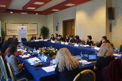Experts from Bosnia and Herzegovina meet with relevant stakeholders working on drafting the approved regulation in January 2015 in Tirana, Albania. Photo: UN Women/Art Murtezai