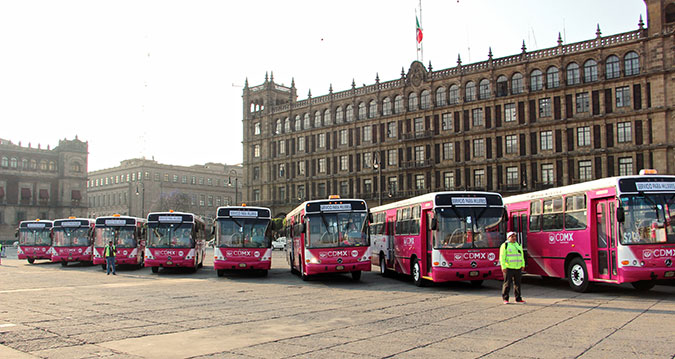 Women only buses known as 'Atenea buses' in Mexico City. Photo: UN Women/Juan Luis Cedeñoy