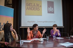 UN Women Executive Director Phumzile Mlambo-Ngcuka took part in a talk-show-style discussion with Dutch Minister of Foreign Trade and Development Cooperation Lilianne Ploumen