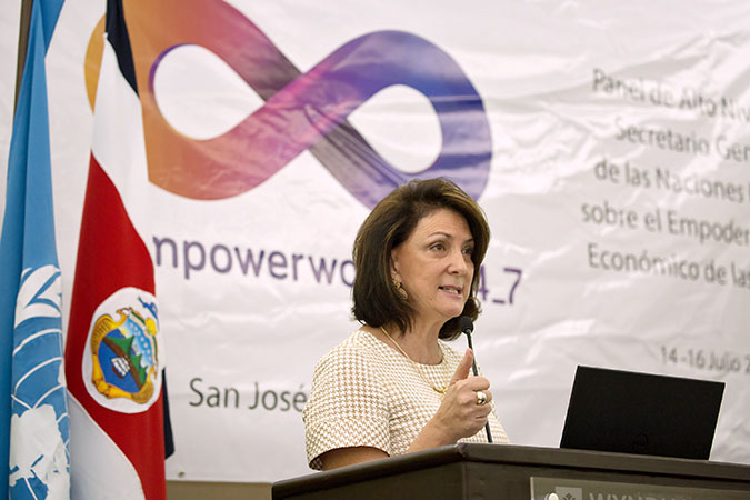 UN Women Regional Director for the Americas and the Caribbean, Luiza Carvalho. Photo: Office of the President of Costa Rica/Roberto Sanchez