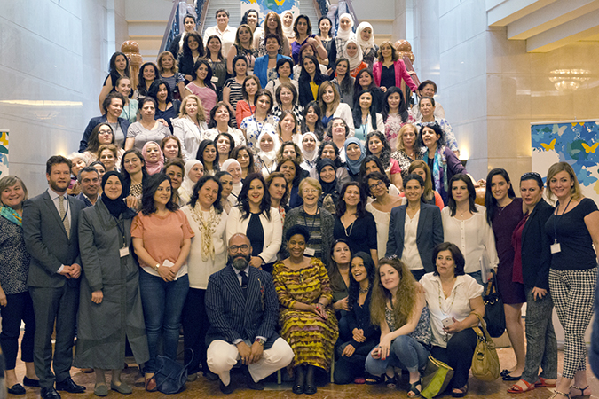 Group photo at the closing of the Syrian Women Peacemakers conference in Beirut. Photo: UN Women/Emad Karim