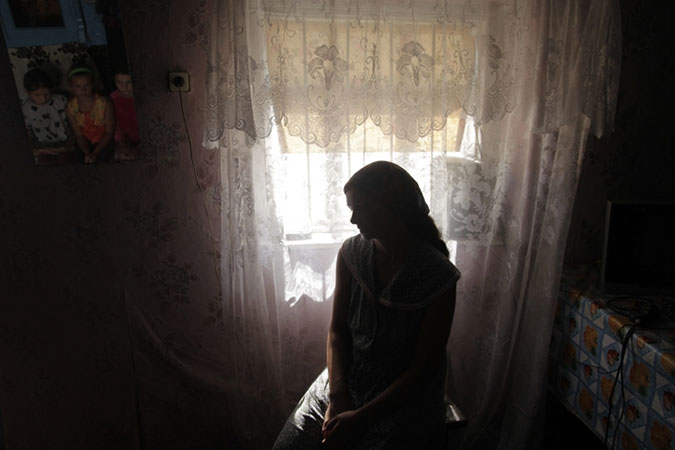 An anonymous victim of trafficking in Moldova. Photo: UNDP in Moldova