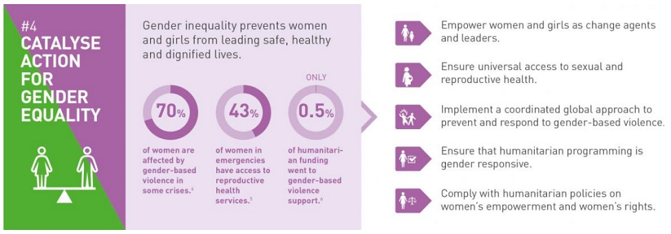 WHS factograph: Catalyse action for gender equality