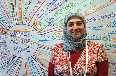 Samah Bassas. Photo: UN Women/John Bleho