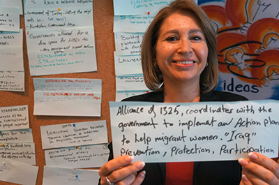 Susan Aref. Photo: UN Women/John Bleho
