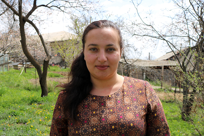 Alina Gevorgyan, a member of the Aghavnadzor community Women's group. Photo: Green Lane/Armen Sarukhanyan