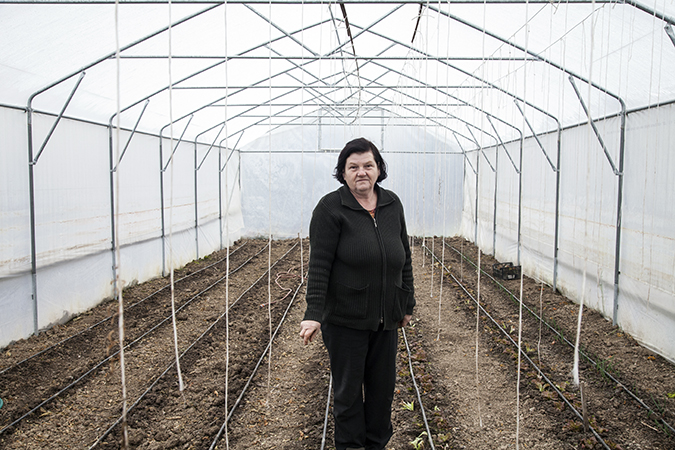 Zilha Kurešević, in her strawberry farm in Samac, Bosnia and Herzegovina. UN Women worked with local municipality of Samac to improve gender responsive budgeting. As a result, Kuresevic received a grant from the government to purchase drip irrigation system and strawberry seeds. Photo: UN Women/Rena Effendi