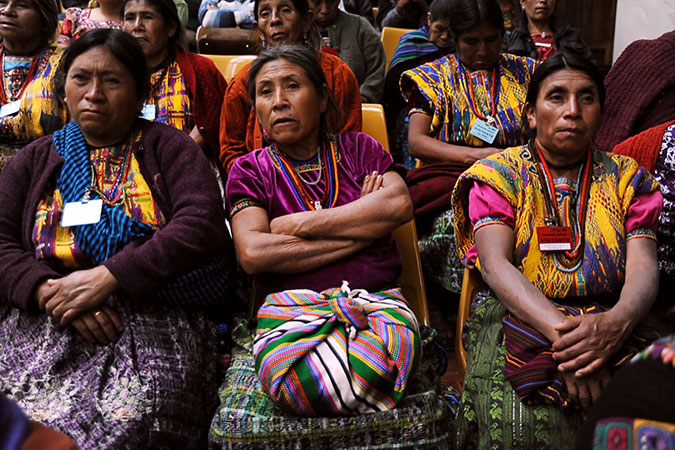Women look on during the trial in Guatemala's High-Risk Court in February 2016. Photo: Cristina Chinquin