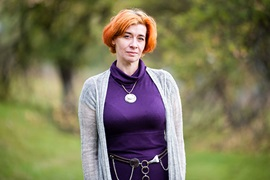 """Anna Aryabinska """"Almost everybody is completely shocked to learn that I have been living with HIV for over 11 years."""" Photo: UN Women/Volodymyr Shuvayev"""