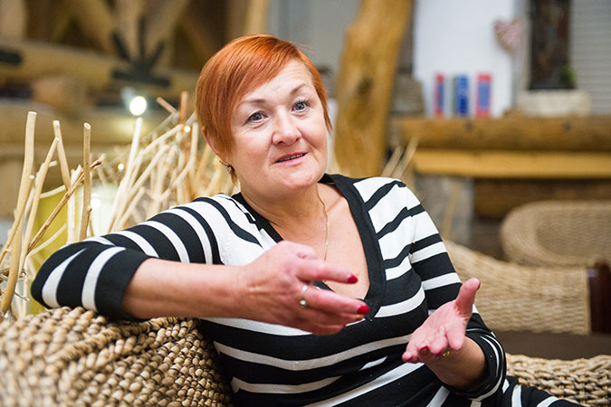 """""""I teach my clients to value themselves, their emotional health and that honesty, open communication and acceptance can act as a counterbalance to the violence they have experienced in their lives,"""" says Zhanna Matveyko. Photo: UN Women/Volodymyr Shuvayev"""