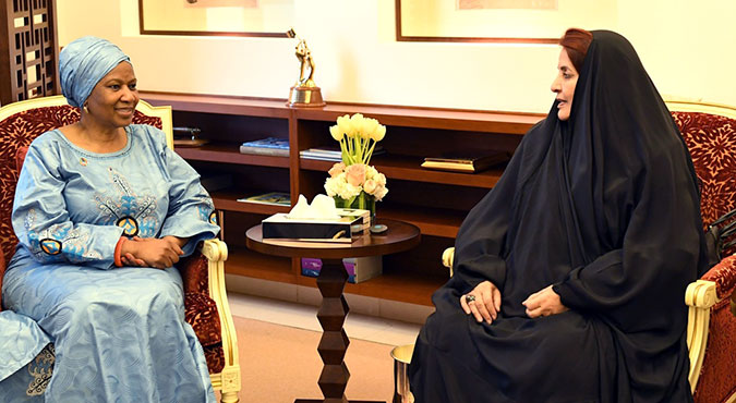 UN Women Executive Director Phumzile Mlambo-Ngcuka with Her Royal Highness Princess Sabeeka bint Ibrahim Al Khalifa. Photo: Supreme Council for Women Bahrain