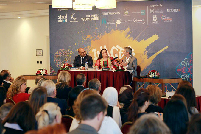 "The ""Understanding Masculinities, Results from the International Men and Gender Equality Study in the Middle East and North Africa"" launch event in Beirut Lebanon on 2 May."