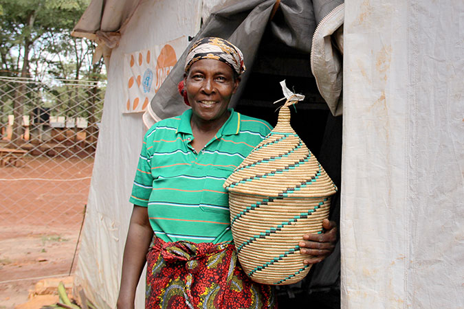 Korotirida Minani found a second home in Nduta Refugee camp after fleeing from her hometown in Burundi in late 2015. Photo: UN Women/Deepika Nath