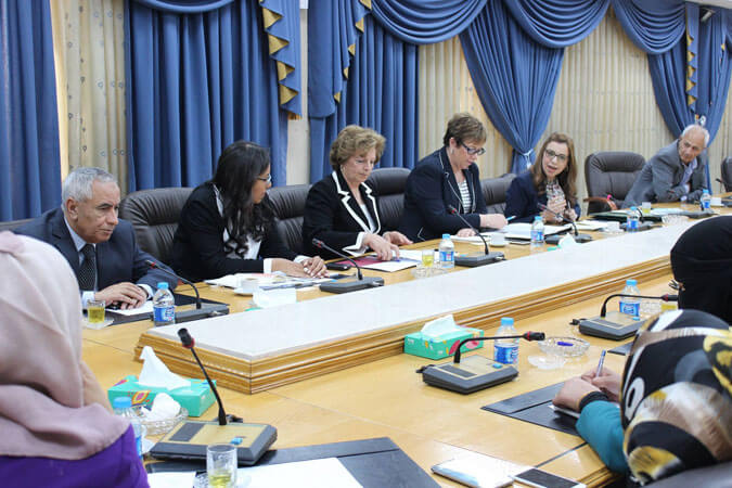 UN Women, in collaboration with the Jordanian National Commission for Women, hosted a round table discussion at the Jordanian Parliament between Jordanian and Moroccan Members of Parliament to exchange good practices on Penal Code amendments, with a specific focus on article 308 on 9 May 2016. Photo: Jordanian National Commission for Women.