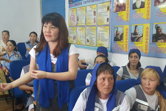 Representatives of the General Prosecutor's Office and UN Women consulted women across the country, including women in prison, to learn about their needs. Photo: Kazakhstan's General Prosecutor's Office.