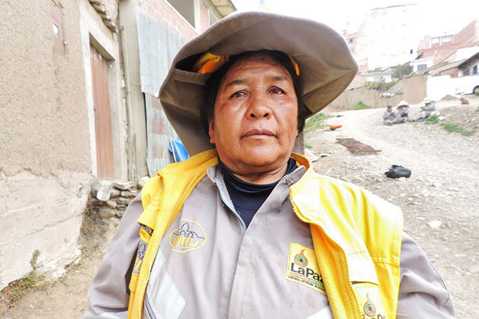 Construction worker Soledad Miranda, 63. Photo: UN Women/David Villegas