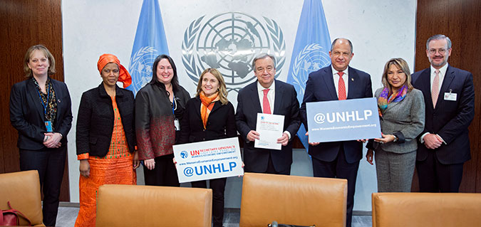 Final report of the UN High-Level Panel on Women's Economic Empowerment calls on leaving no one behind