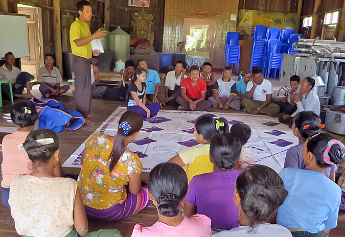 In a community in Myanmar, a role model changes attitudes and actions