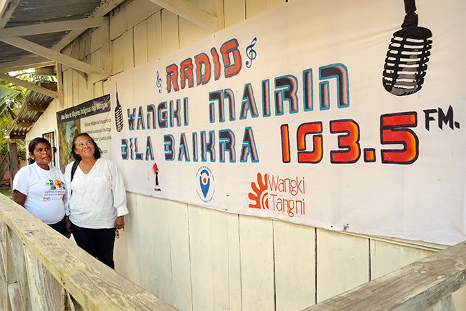 The MADRE and Wangki Tangni Radio station where programming on violence against women and women's rights is produced for the community. Photo: UN Trust Fund/Mildred García.
