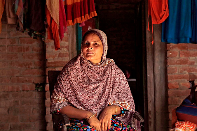 Mosammat Kamrunnahar, one of the Polli Shomaj Women in Dinajpur Zaman. Photo: UN Women/Snigdha Zaman