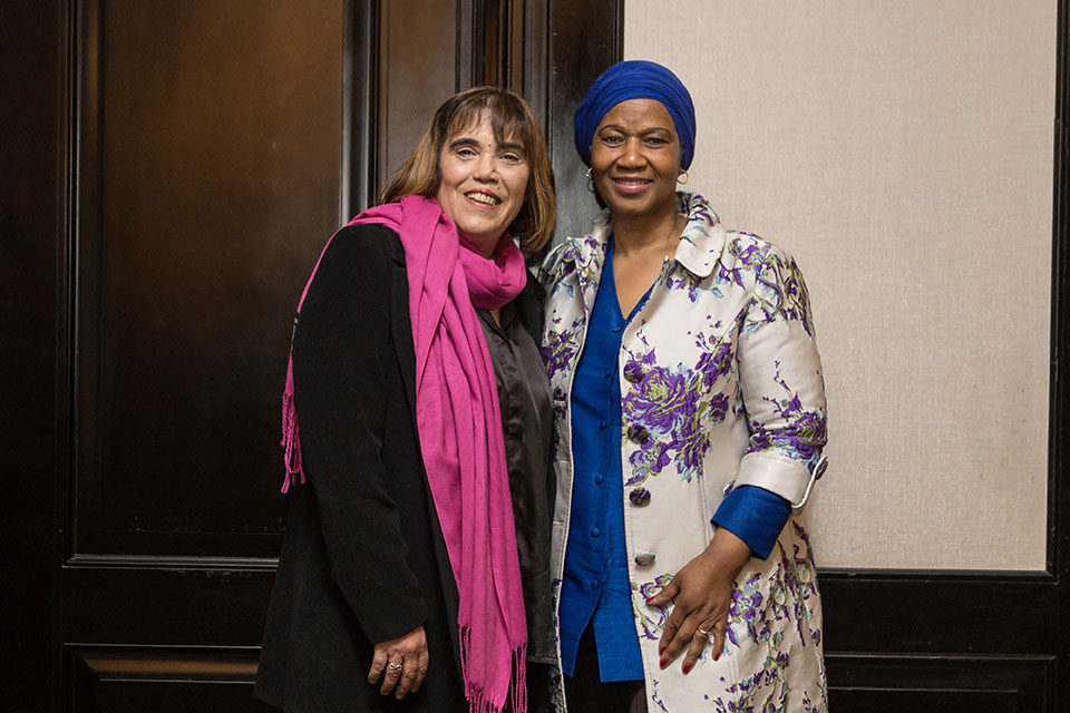 Fabiana Tuñez, Director of the National Institute of Women, Argentina and UN Women Executive Director Phumzile Mlambo-Ngcuka. Photo: UN Women/Rodrigo de la Fuente.