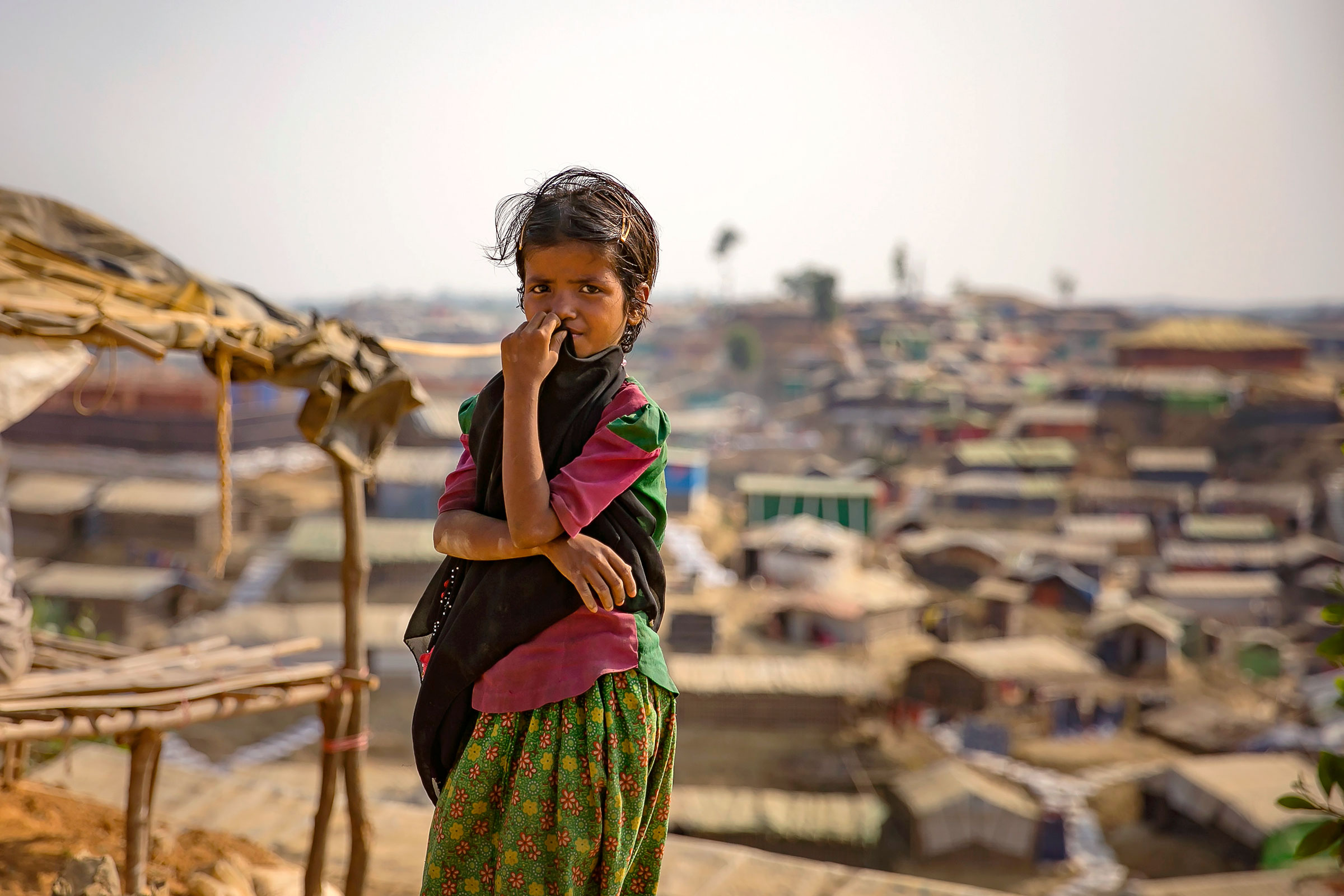 A young Rohingya girl in Cox's Bazar. Photo: U N Women/Allison Joyce