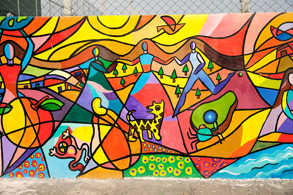 <p>As part of the annual 16 Days of Activism Against Gender-Based Violence in 2017, community members, women leaders and artists came together to paint murals in zone 5,6,7 and 18 as a way of reclaiming public spaces. The murals signify women's empowerment and freedom from violence.     </p>