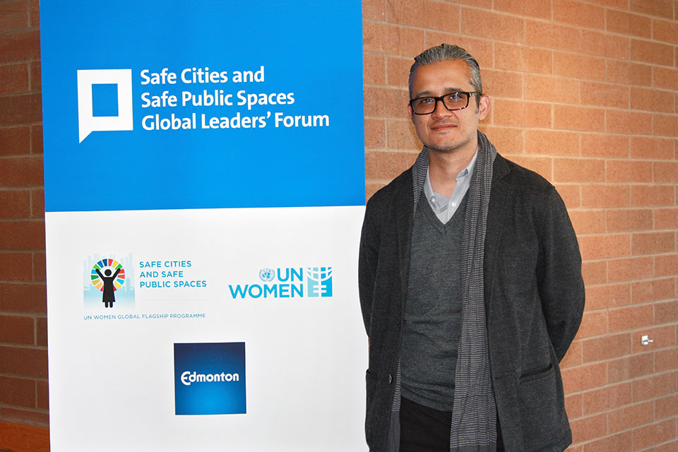 Axel Manuel Romero García, Vice-Minister of Violence Prevention and Crime at the Safe Cities and Safe Public Spaces Global Leaders' Forum in Canada. Photo: UN Women/Mariana Mellado