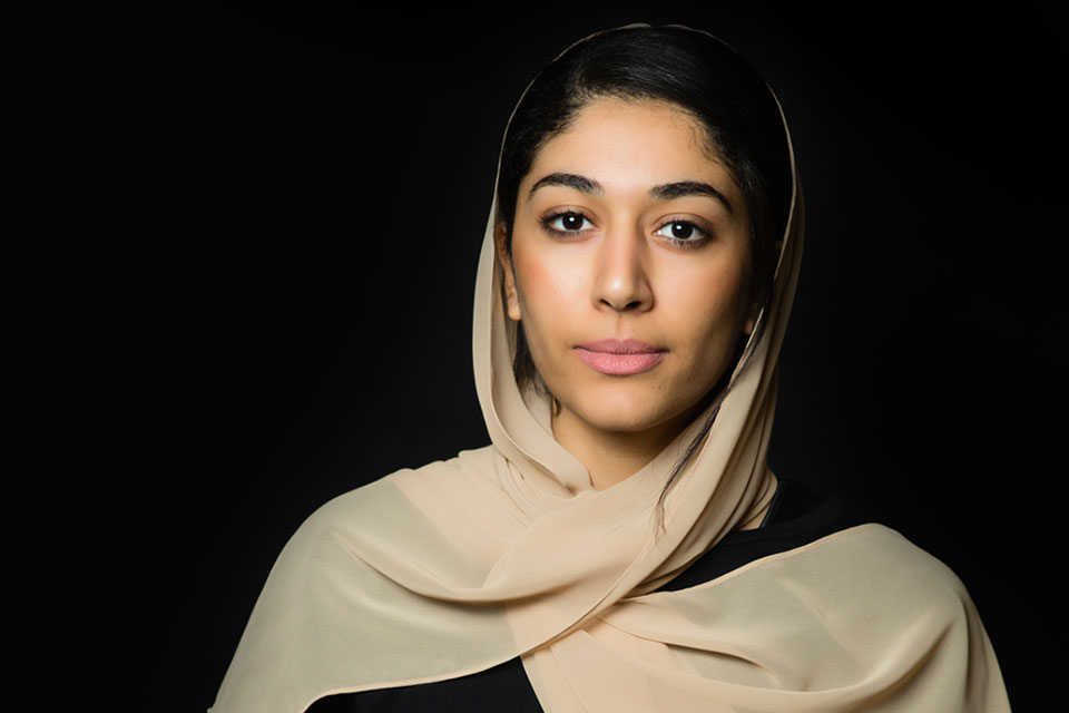 """Hajer Sharief, co-founder of """"Together We Build it"""". Photo: UN Women/ Mohamed Ezz"""