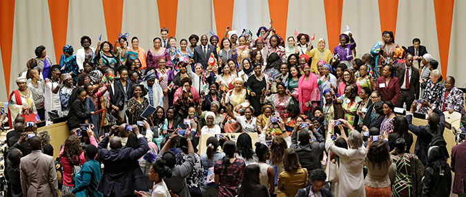The launch of the African Women Leaders Network on 2 June 2017 at UN Headquarters in New York. Photo: UN Women/Ryan Brown