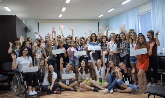 Participants of the third edition of GirlsGoIT summer camp that took place on 21-30 July in Chisinau, Moldova. Photo: GirlsGoIT