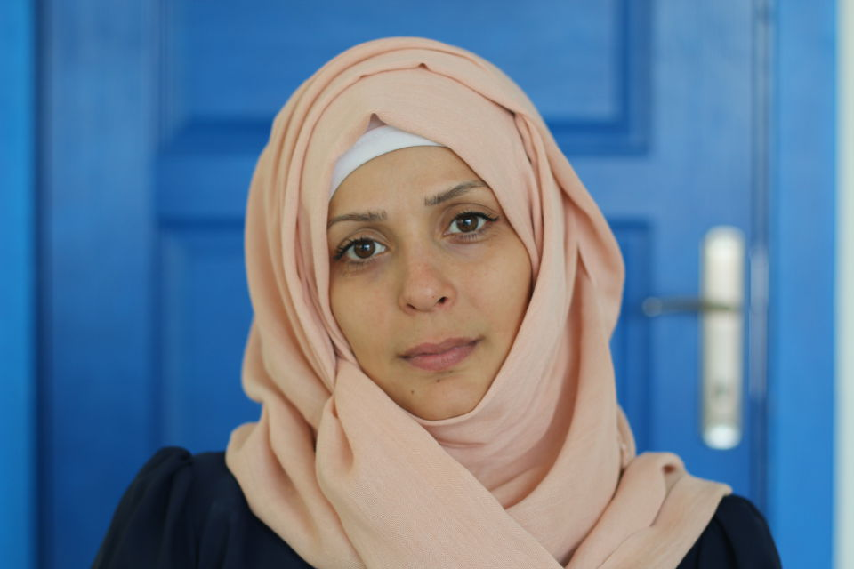 Menal Suleyman, at the age of 30, is a mother of three, a widow, and a refugee from Syria. Photo: UN Women/Sinem Aydin Lopez