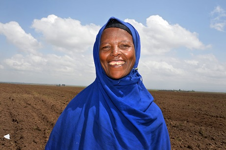Kamso Bame is a member of the women's cooperative in her village. Photo: UN Women/Fikerte Abebe