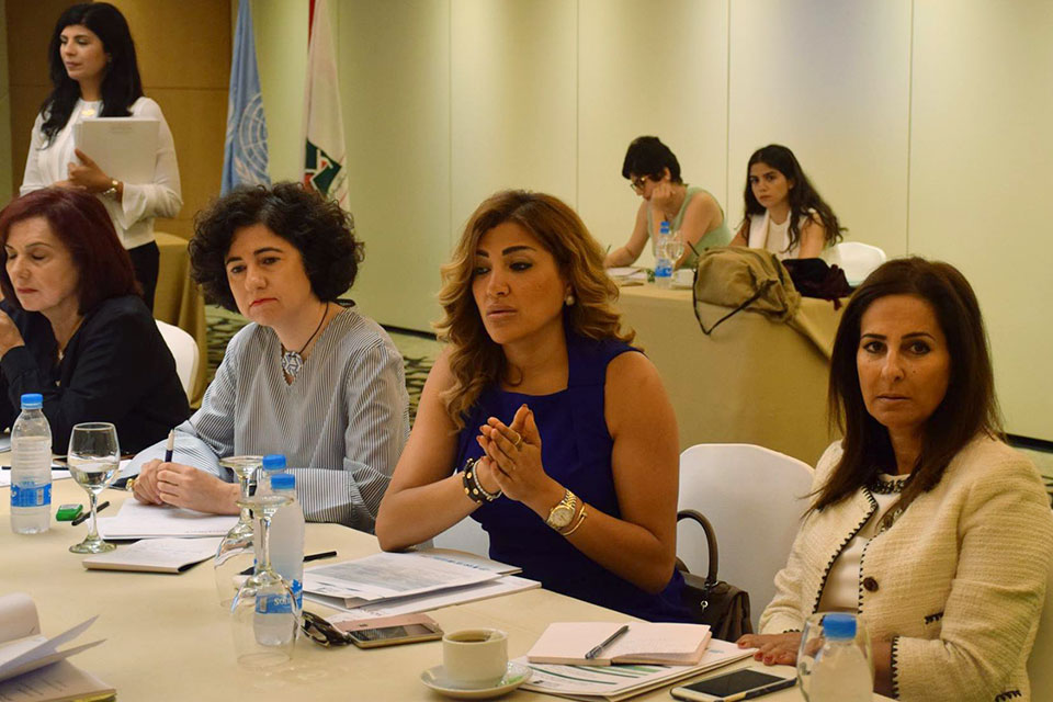 Participants  during  NAP  1325  consultation  on  legal  reforms  held  on  July  3,  2018  in  Beirut,  Lebanon.  Photo:  National  Commission  for  Lebanese  Women