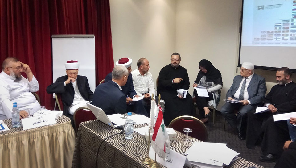 UN  Women  hold  focus  group  discussions  with  religious  leaders  of  all  faiths  in  October  2017  in  Beirut,  Lebanon.  Photo:  Adyan  Foundation