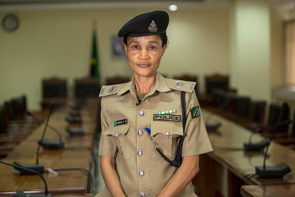 Faidah Suleiman, Superintendent of Police, Gender and Children Desk. Photo: UN Women/Daniel Donald