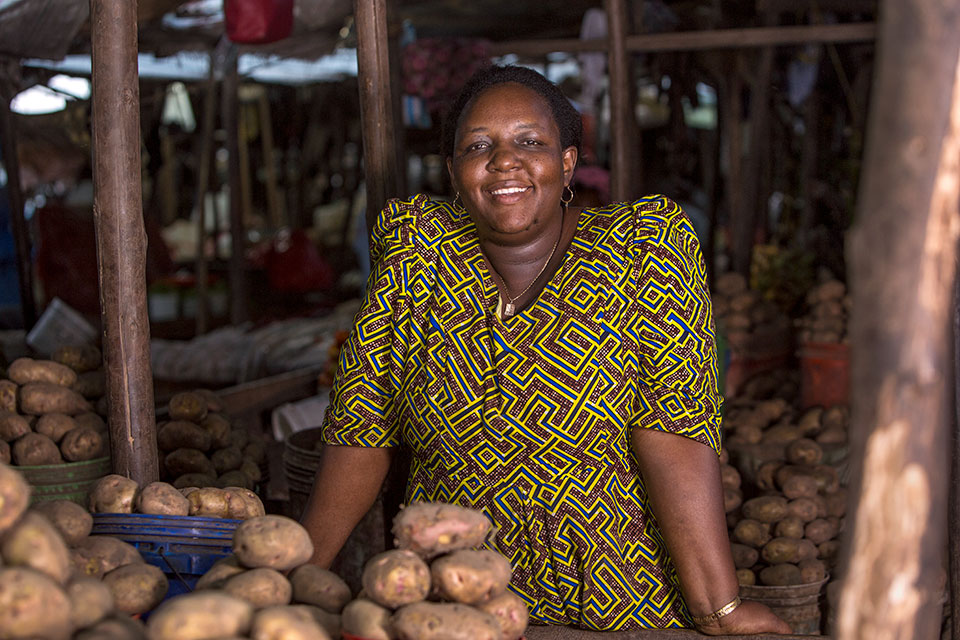 Johanita Juvenal Katunzi, Trader at Temeke  Market Photo: UN  Women/Daniel  Donald