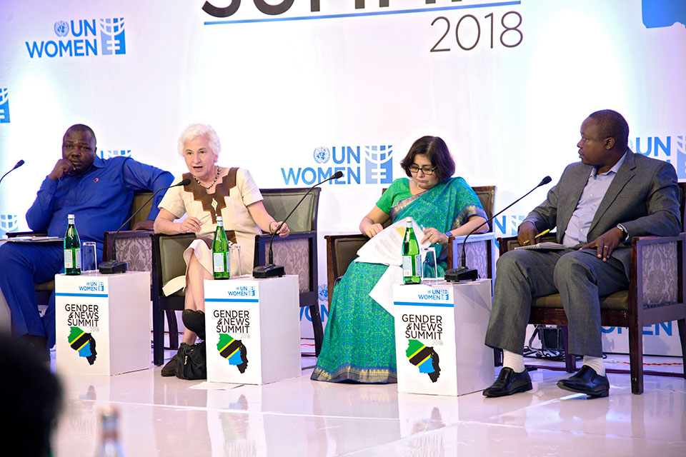 Panelists at the Gender and Media Summit in Dar es Salaam. Photo: UN Women/Michael Jonathan